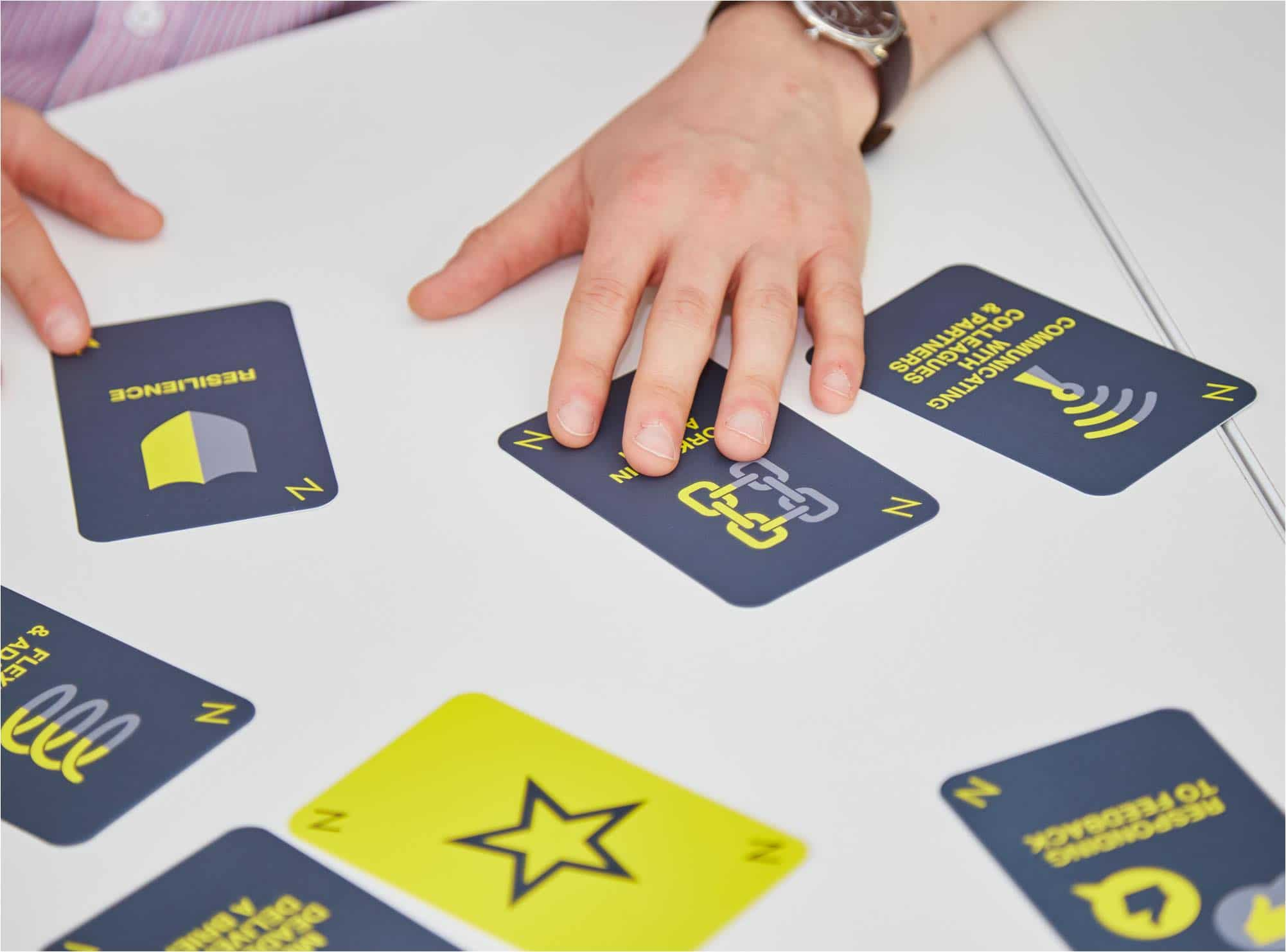 Close up photo showing NUA PROFILE Card Game