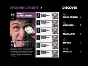 Writes' Centre Norwich website design