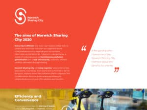 Norwich Sharing City website