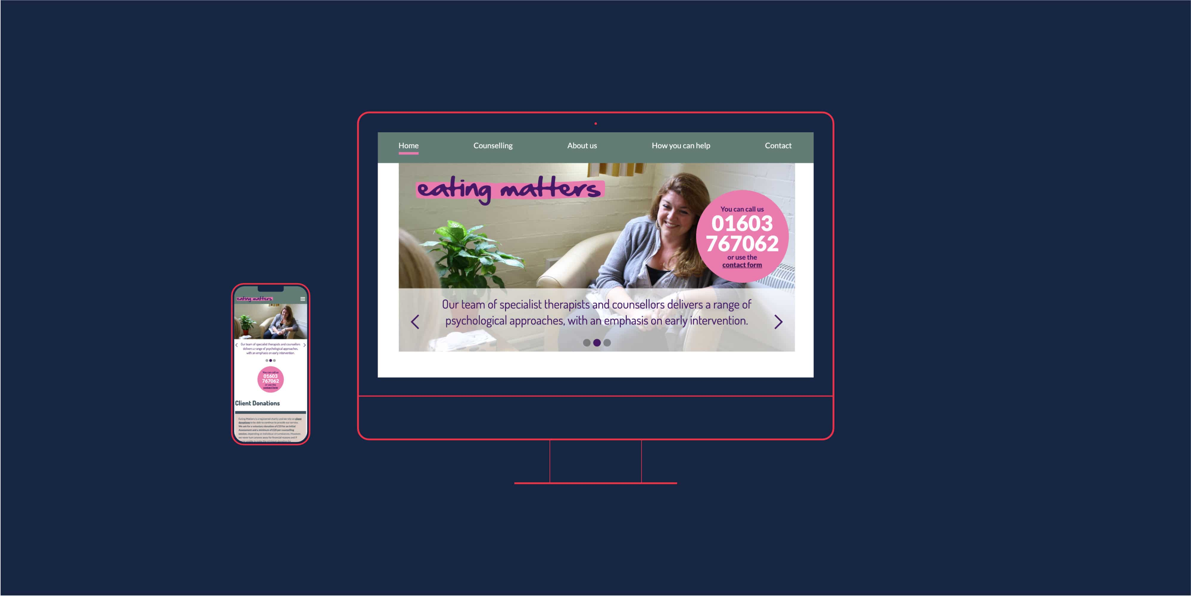 Eating Matters website design