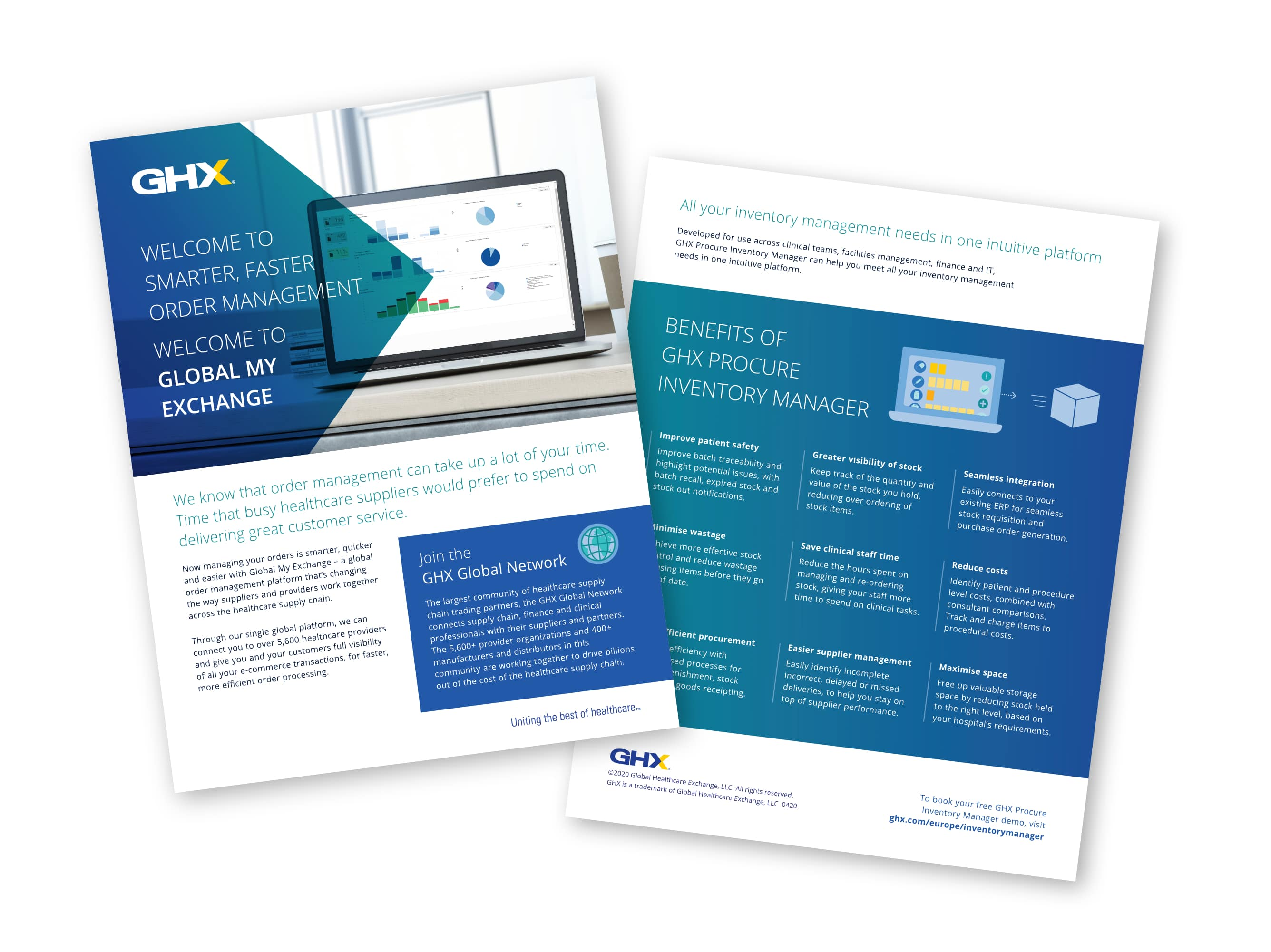GHX Brochure designs